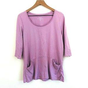 Pure Jill Lilac Purple Curved Seam Tunic Top